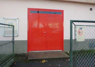 Gas shed door