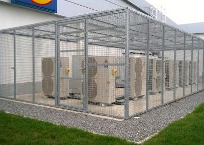 Structure grillagé pour climatiseur